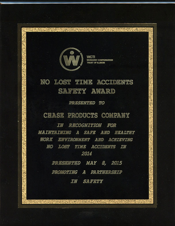 WCTI No Lost Time Award